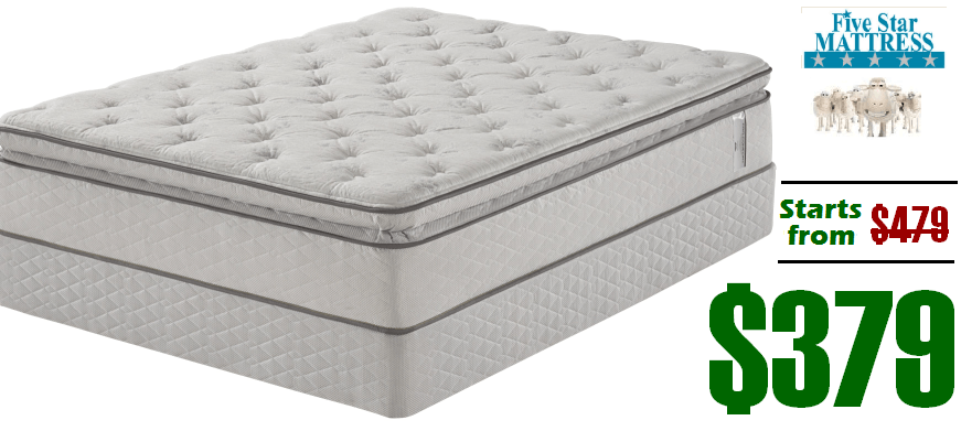 Queen mattress on sale sealy treat cushion firm queen for Best store to buy a mattress